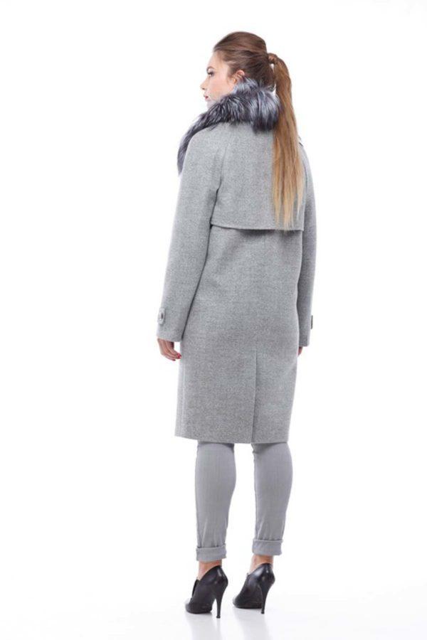 Зимние пальто Фелиция шерсть nick серый 1