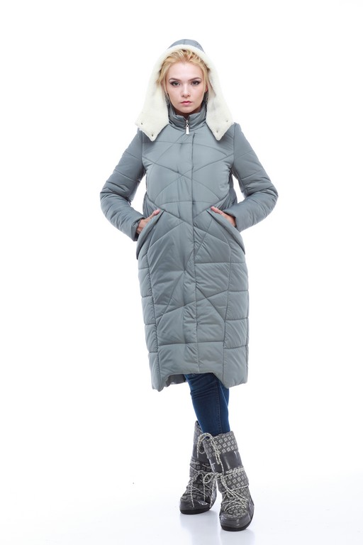 Зимове пальто Дакота (овч), touch memory, memory oil фісташки