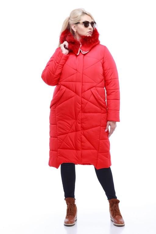 Зимове пальто Дакота єнот