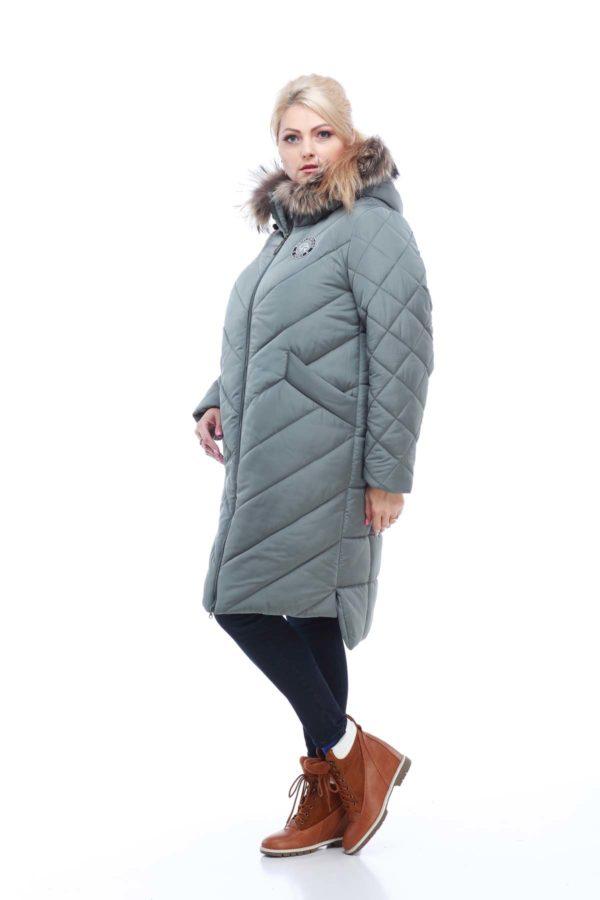 Зимове пальто стьогане Монтата фісташки