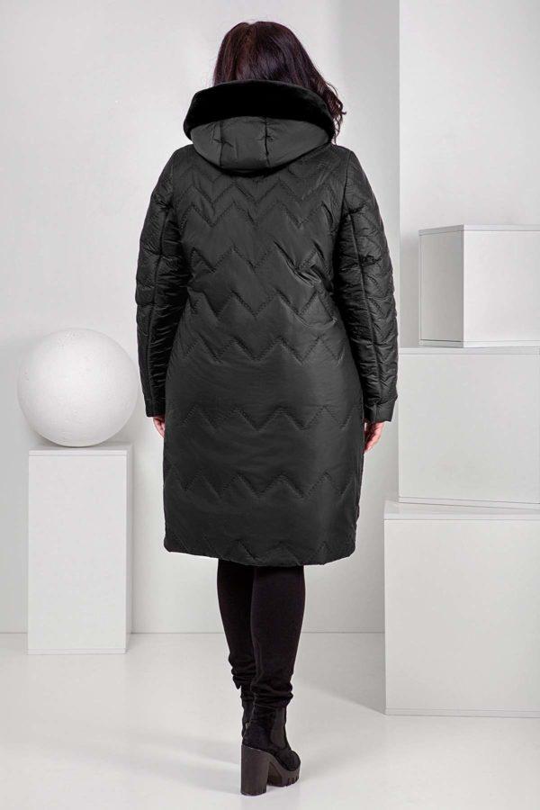 Пальто стеганое Верона, мутон, графит