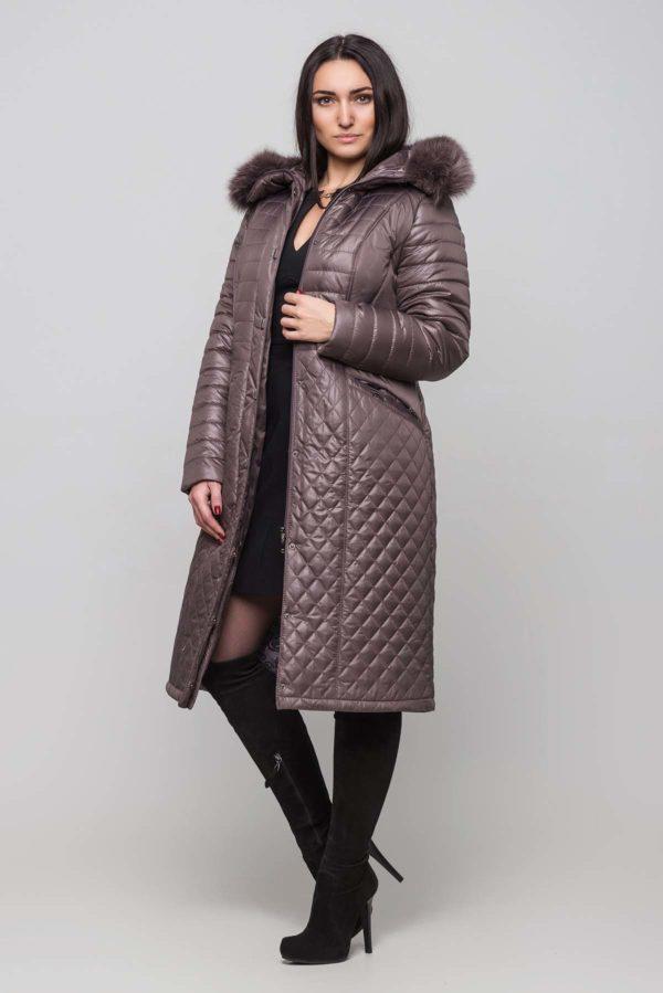 Зимнее пальто Софи Зима, песец-хвост мол.шок