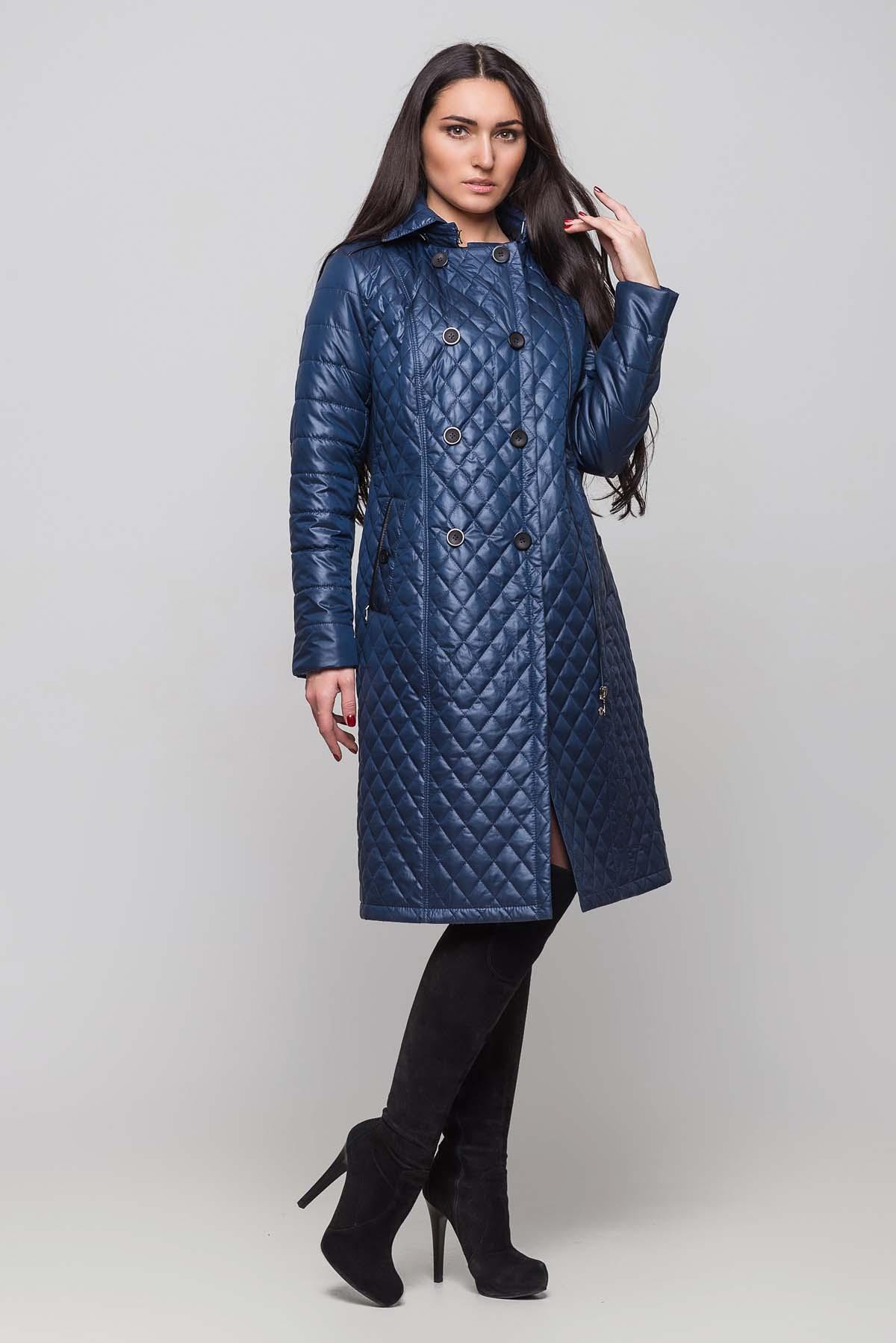Пальто Диана довге синій