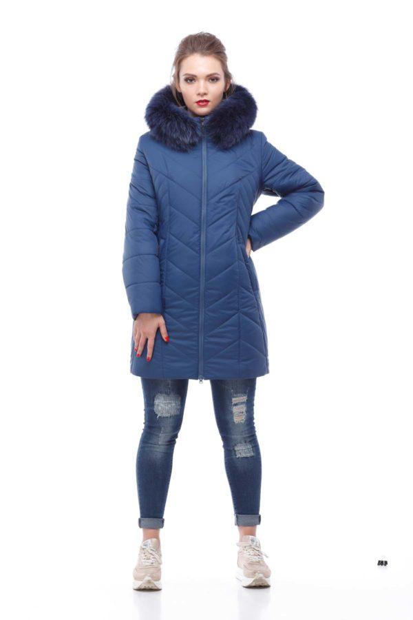 Куртка Стелла ful dal песец-хвост синий матовый