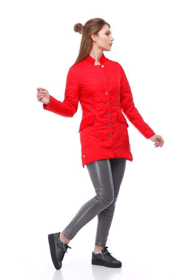 Куртка Лейла плащ. ярко-красный