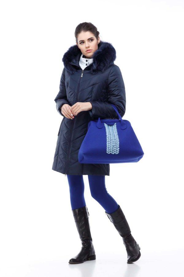 Куртка Стелла ful dal песец-хвост темно-синий