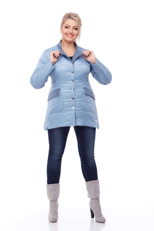 Куртка Лейла плащ. голубой