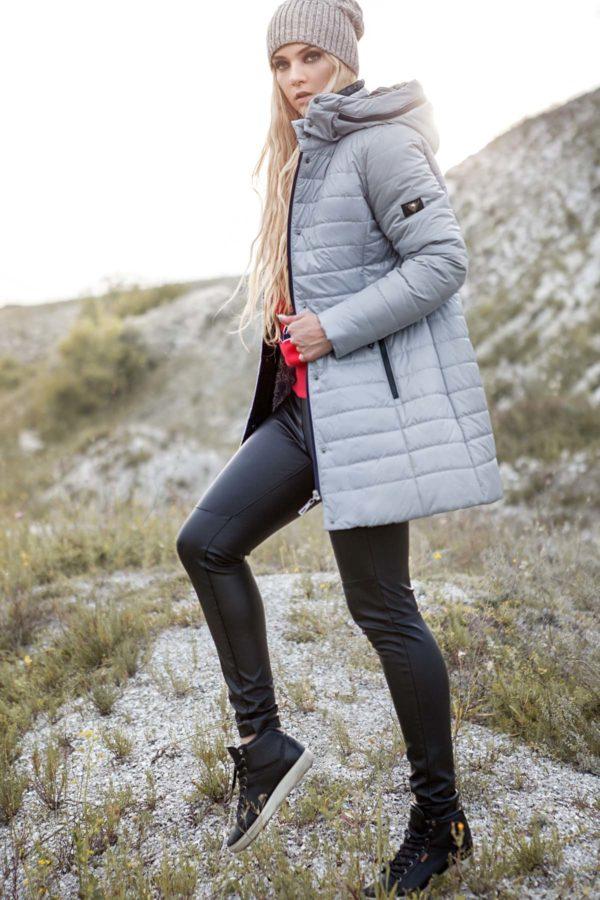 Зимняя куртка Марсела св.серый