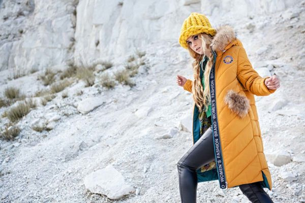 Зимнее пальто стеганое Монтана тепл. желтый