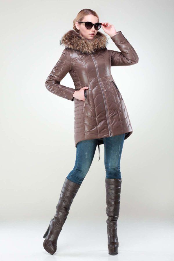 Куртка Джулія хутро грибний
