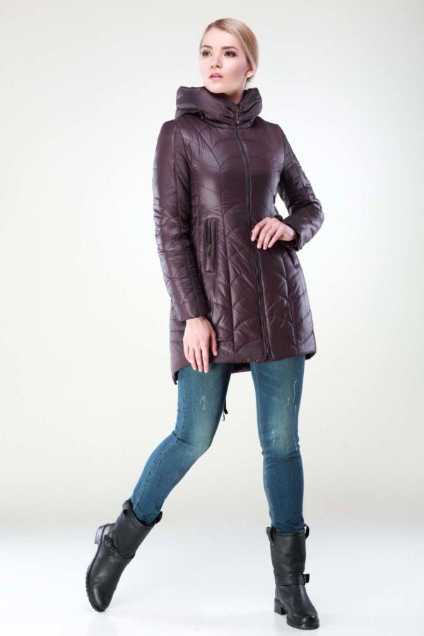 Зимова куртка Джулія темний шоколад