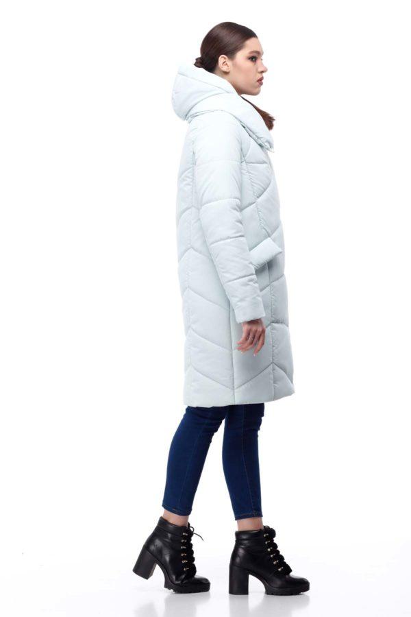 Пальто стеганое Карина мята ammy