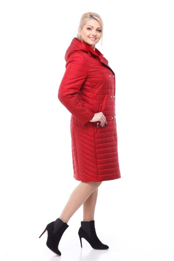 Пальто стеганое Ким, темно-красный