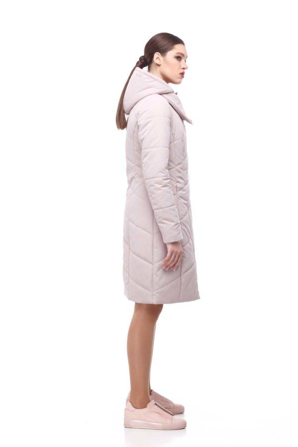 Пальто стеганое Камелия светлая пудра