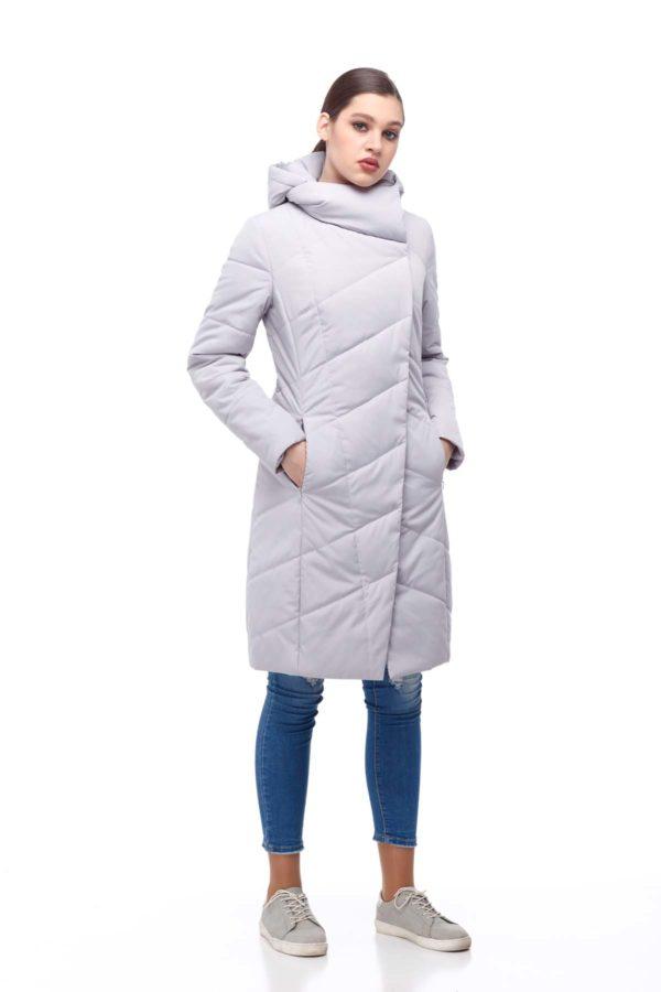 Пальто стеганое Камелия светлый лед