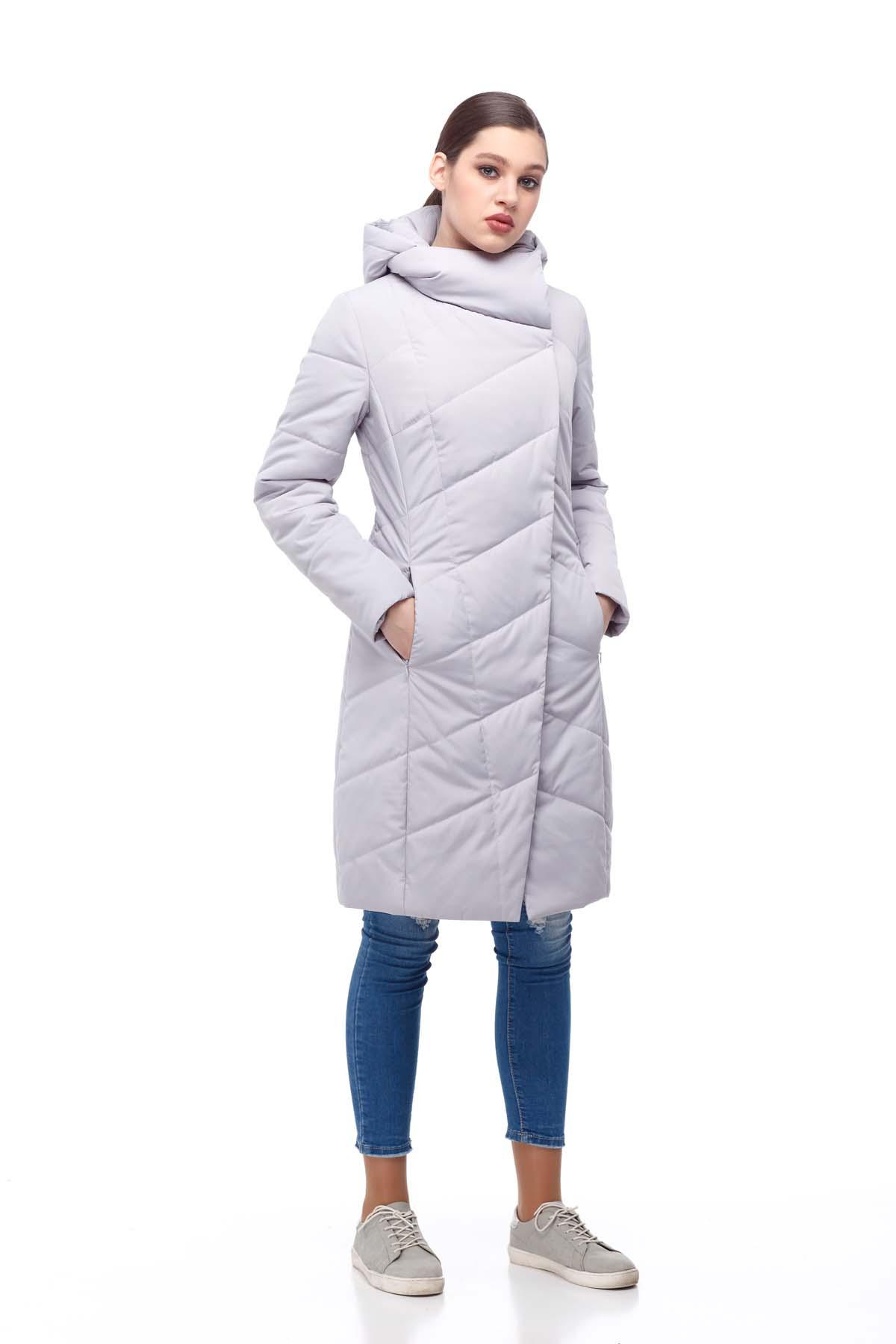 Пальто стьобана Камелія світлий лід