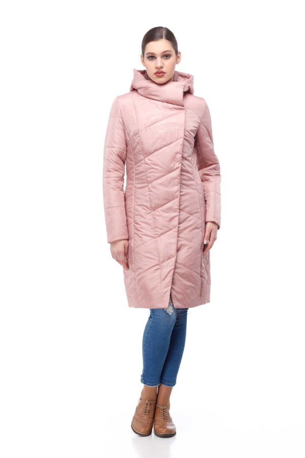 Пальто стеганое Камелия персик