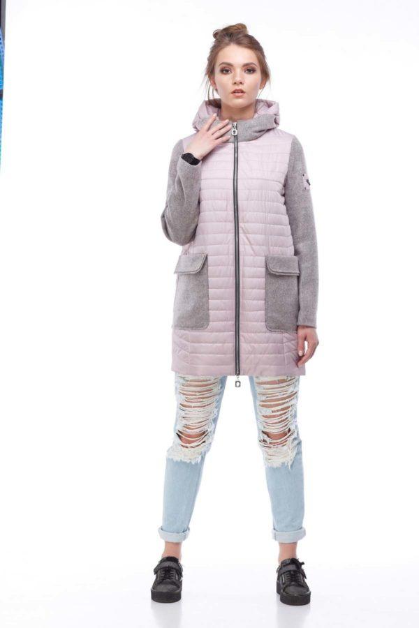 Куртка Джессіка шерсть ful dal пастельно рожевий