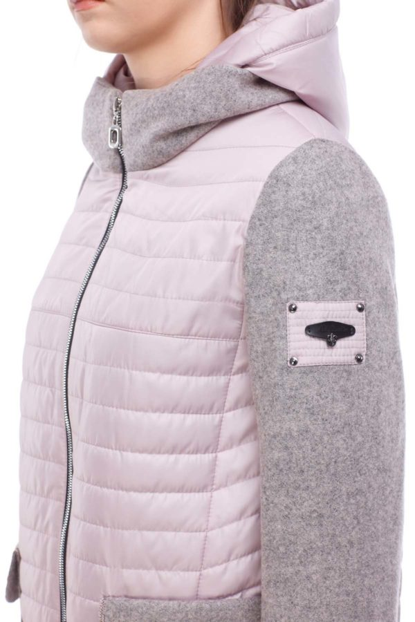 Купить куртку оптом Джессика пастельно розовый шерсть ful dal