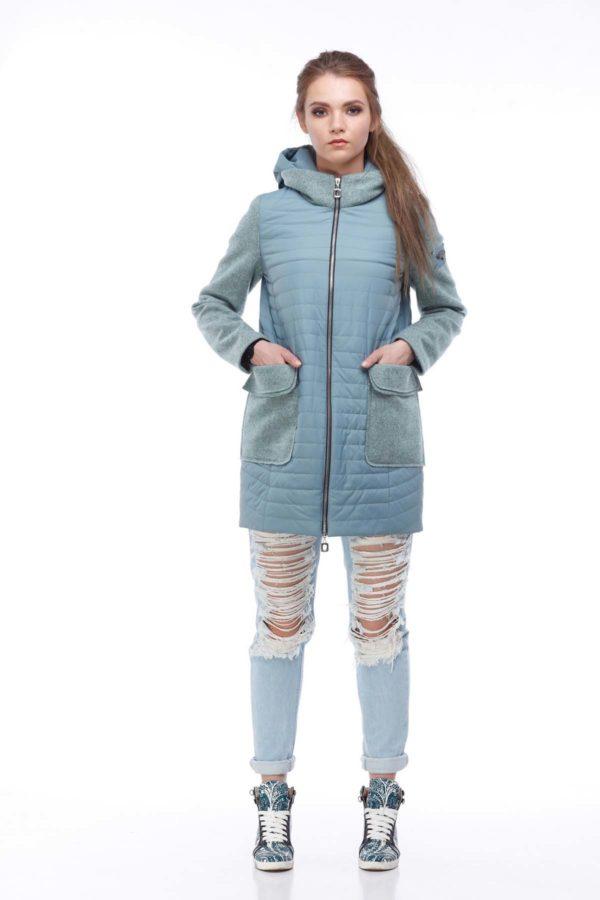 купить куртку оптом Джессика аквамарин шерсть ful dal