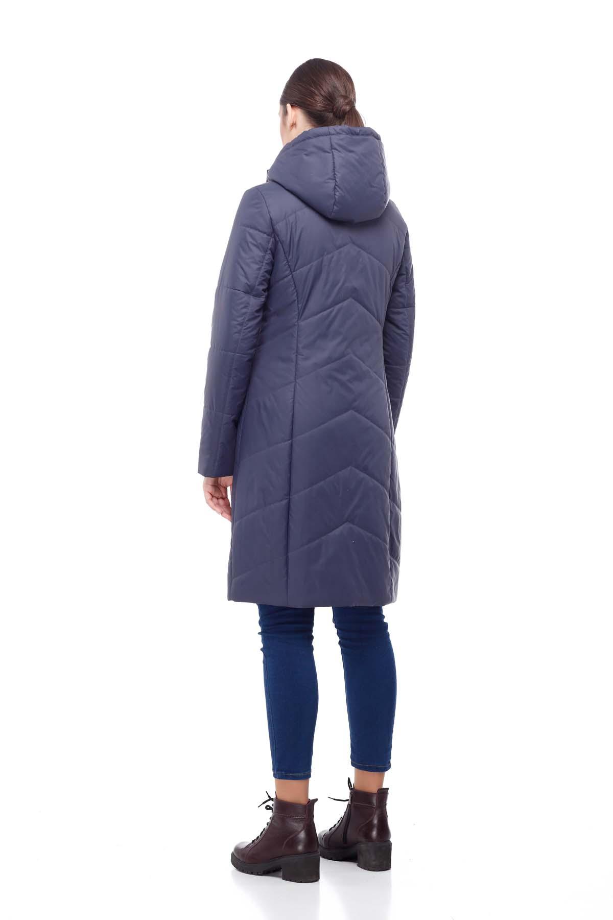 Пальто стьобана Камелія темно-синій