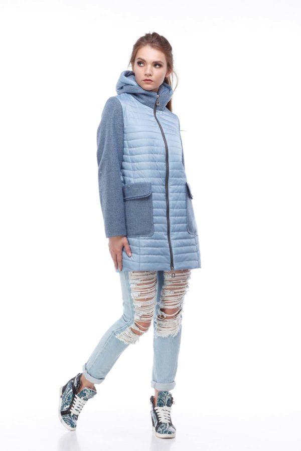 Голубая курточка Джессика шерсть ful dal