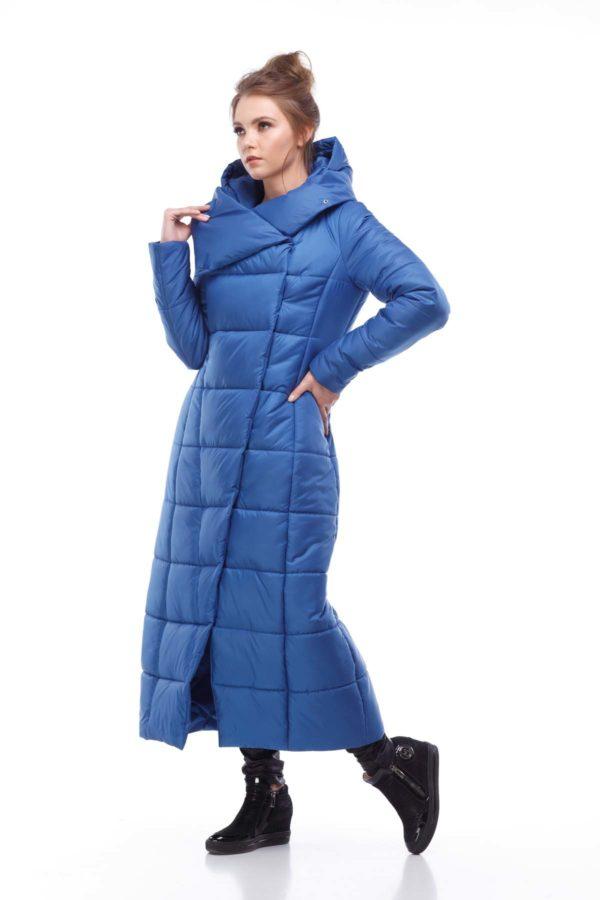 Пальто стеганое Комильфо Светло-синий