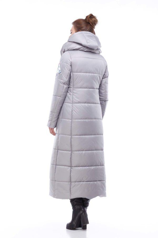 Пальто стеганое Комильфо Серый перламутр