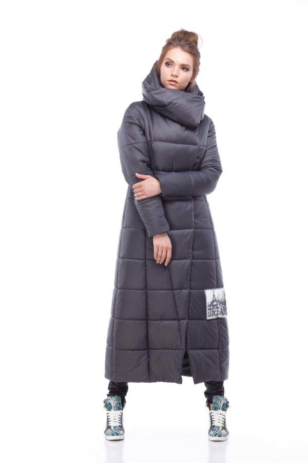 Пальто стеганое Комильфо Графит