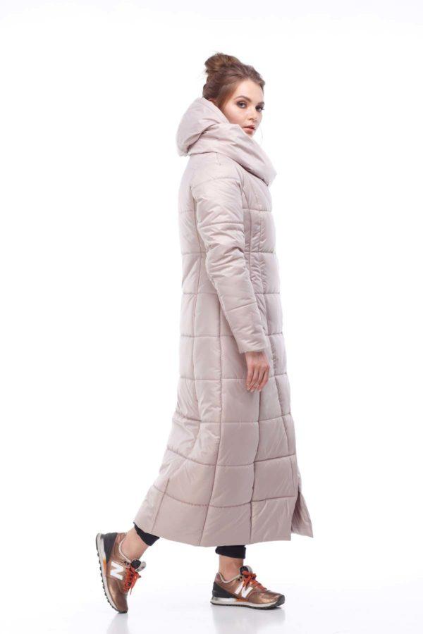 Пальто стеганое Комильфо Бежевый перламутр