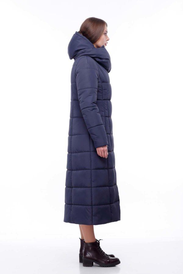 Пальто стеганое Комильфо NEW темно-синий ammy