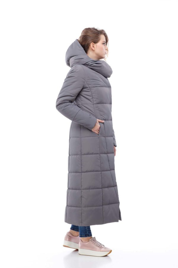 Пальто стеганое Комильфо Темно-серый