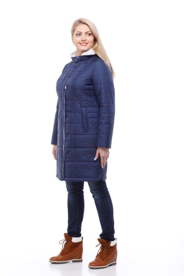 пальто стеганное Темно-синий memory oil