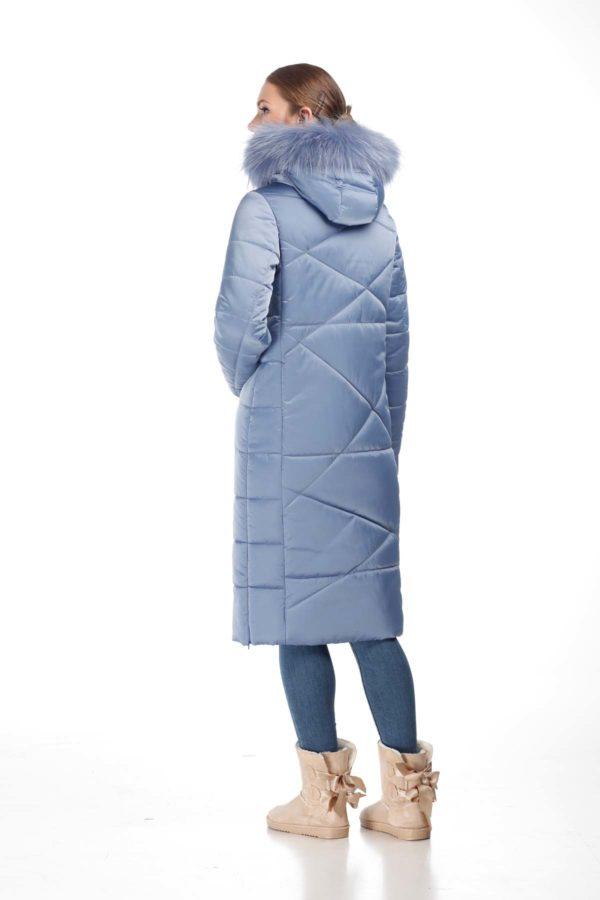 Зимнее пальто Дакота єнот лід атлас