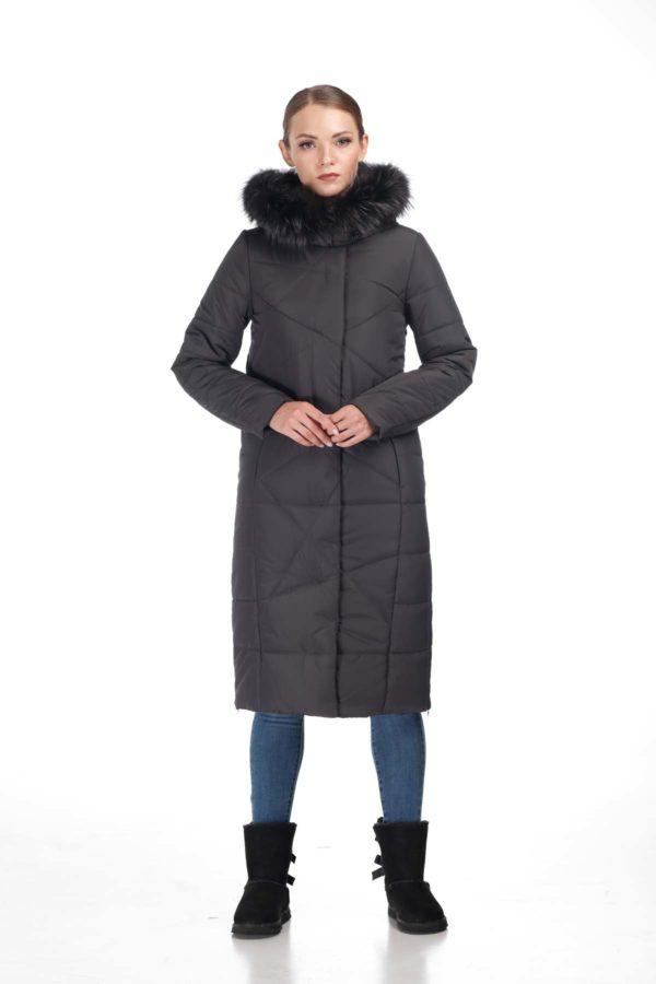 Зимове пальто Дакота єнот графіт