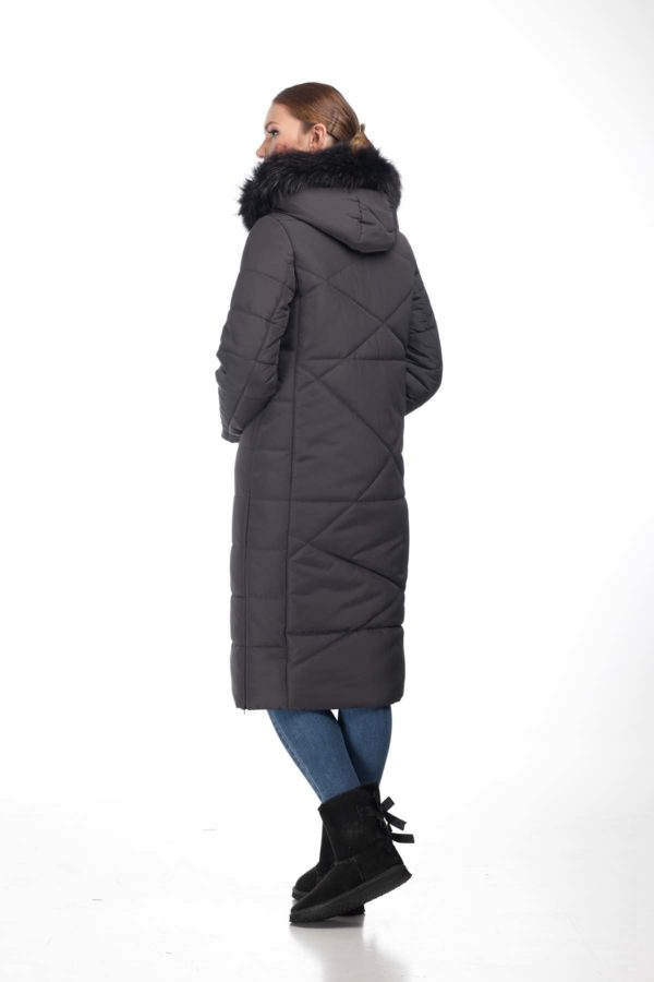 Зимнее пальто Дакота єнот графіт