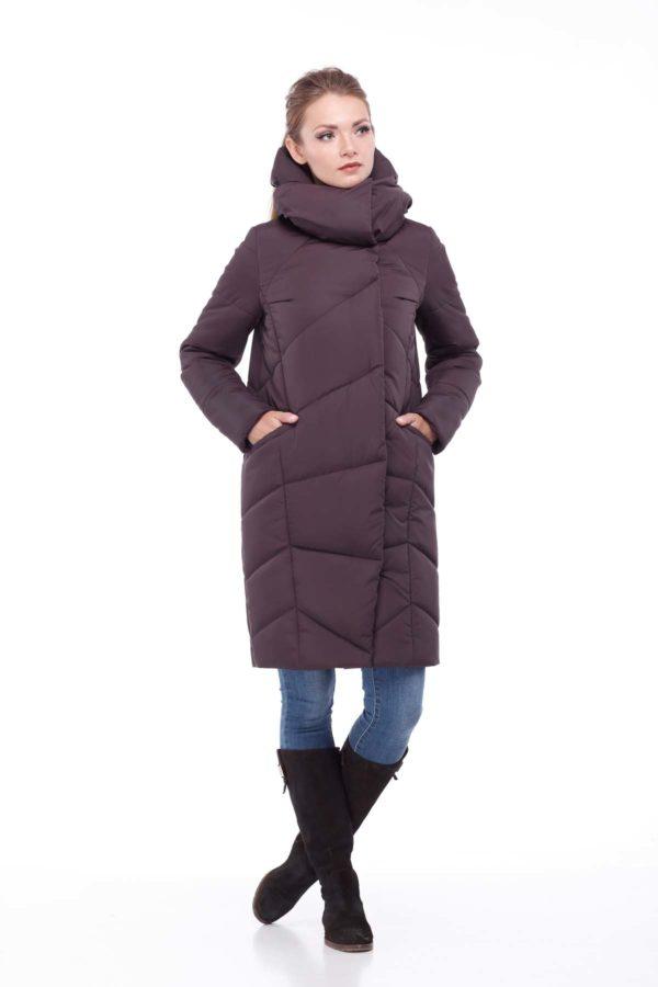 Зимове пальто Каріна, ammy, ful dal, принц шоколад