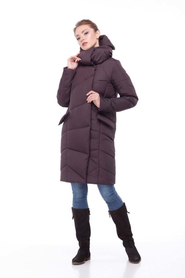 Пальто стеганое Карина шоколад ammy