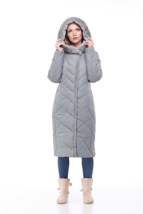 Пальто Сима Зима, кролик фисташка