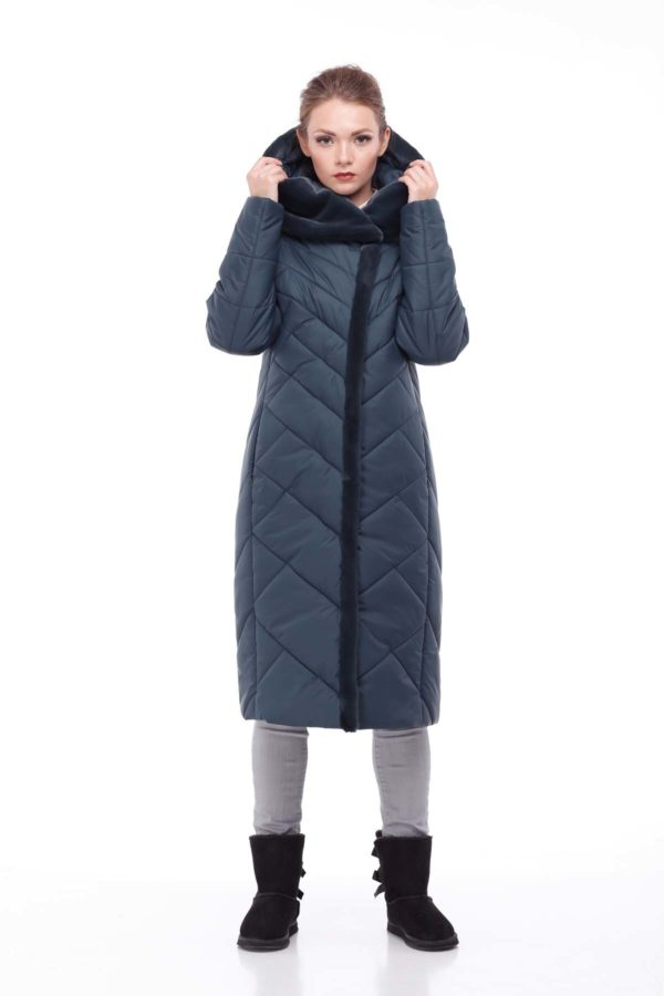 Пальто Сима Зима, кролик темная бутылка
