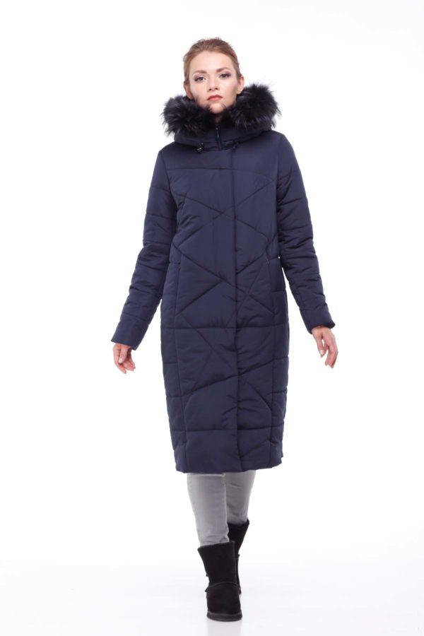 Зимнее пальто Дакота єнот темно-синій