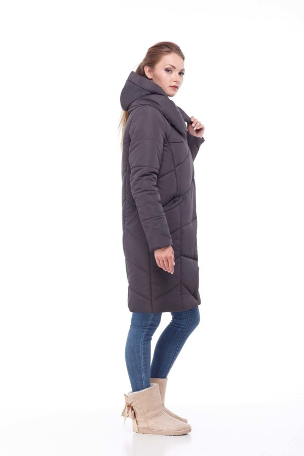 Пальто стеганое Карина графит ammy