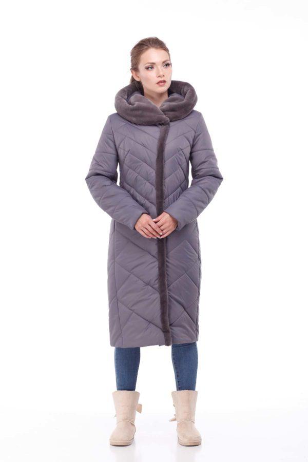Пальто Сима Зима, кролик антрацит