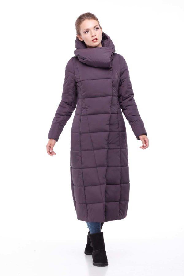 Пальто стеганое Комильфо амарант