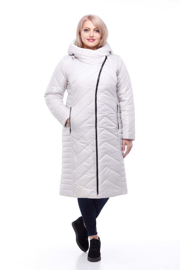Зимнее пальто Мира овчина лайм