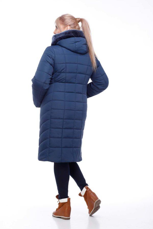 Зимнее пальто Ким Зима мутон темно-синий