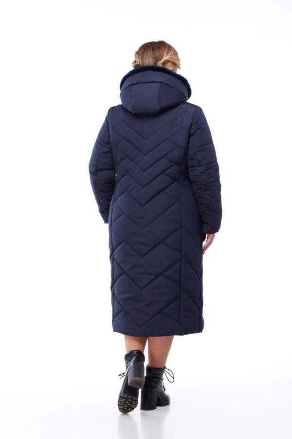 Пальто Сима Зима, норка синій