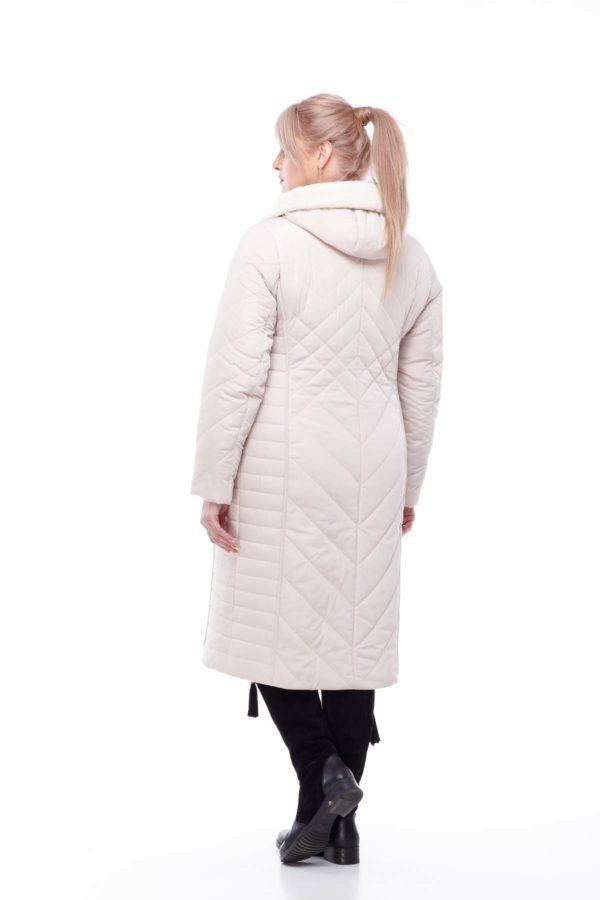 Зимове пальто Миру овчина зефірний