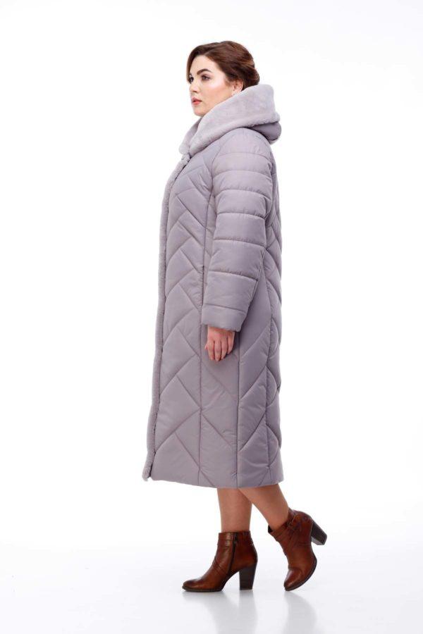 Пальто Сима Зима, кролик сиренево-дымчатый