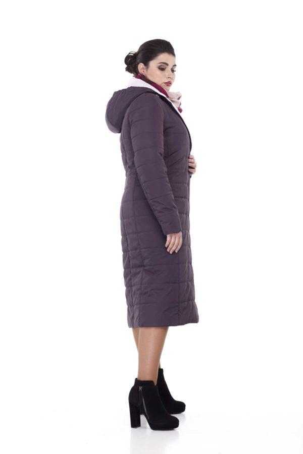 Пальто стьогане Венера, амарантовий